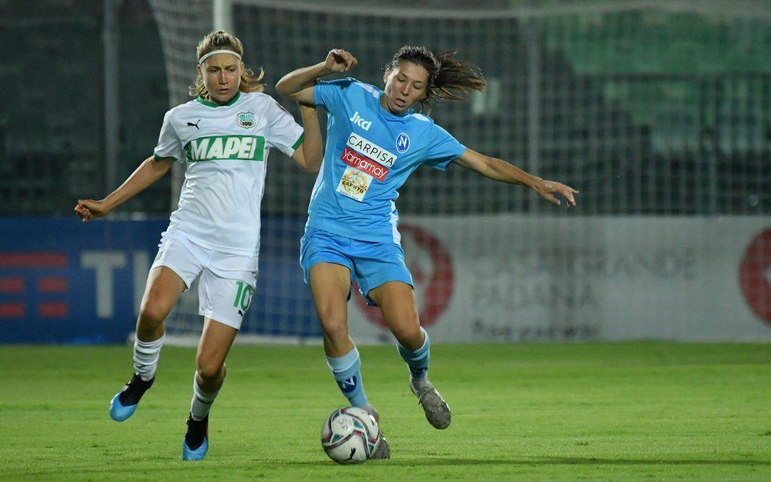Sassuolo-Napoli Femminile 3-1: azzurre ancora a 0 punti