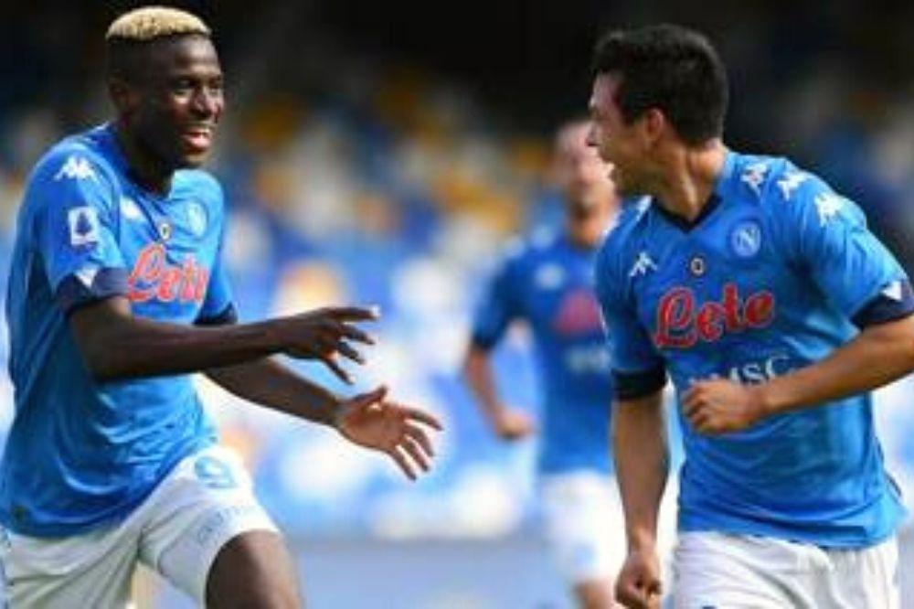 Napoli-Bassa Anaunia 12-0: Osimhen subito in palla
