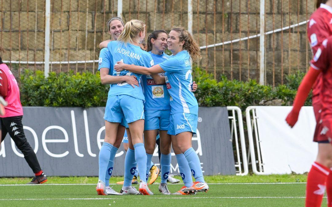 Napoli Femminile-Pink Bari 1-0: prima vittoria in campionato per le azzurre