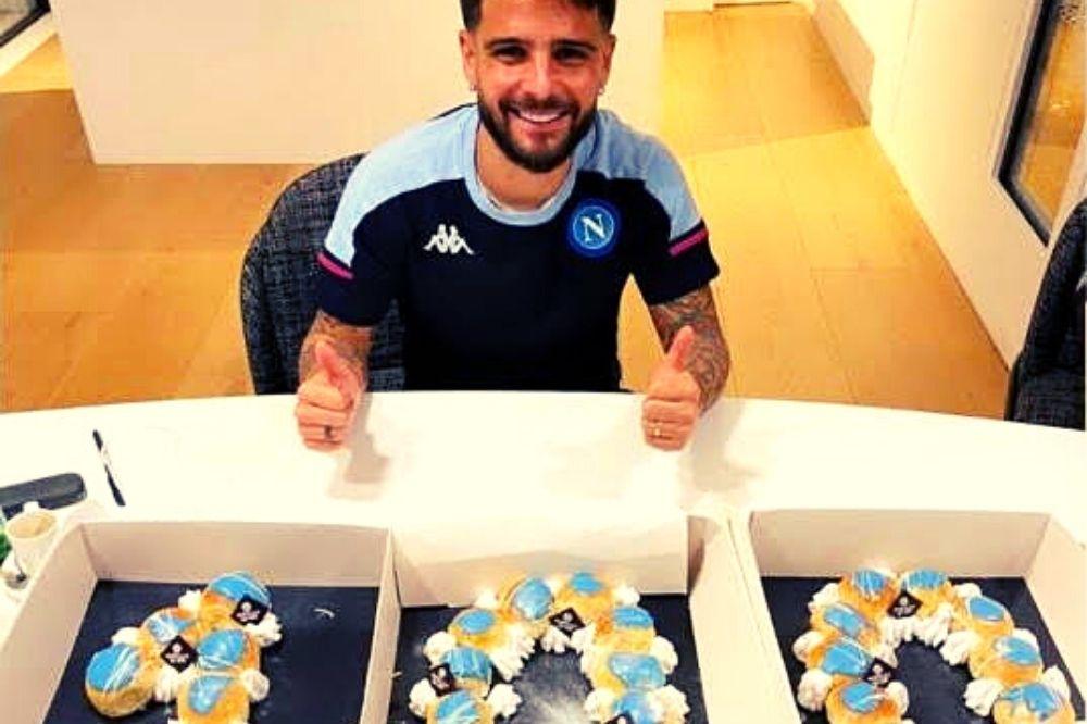 100 gol di Insigne: Poppella celebra il capitano con una torta
