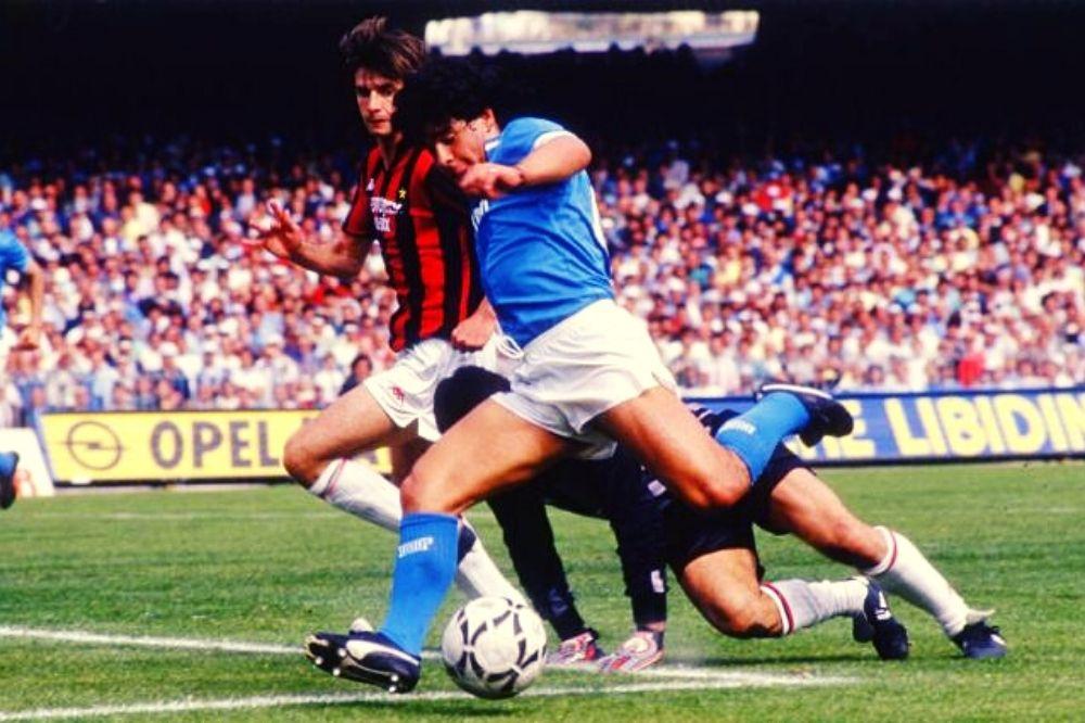 maradona contro il milan 1987